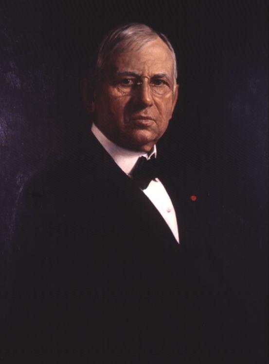 Oil on canvas portrait of John Wanamaker