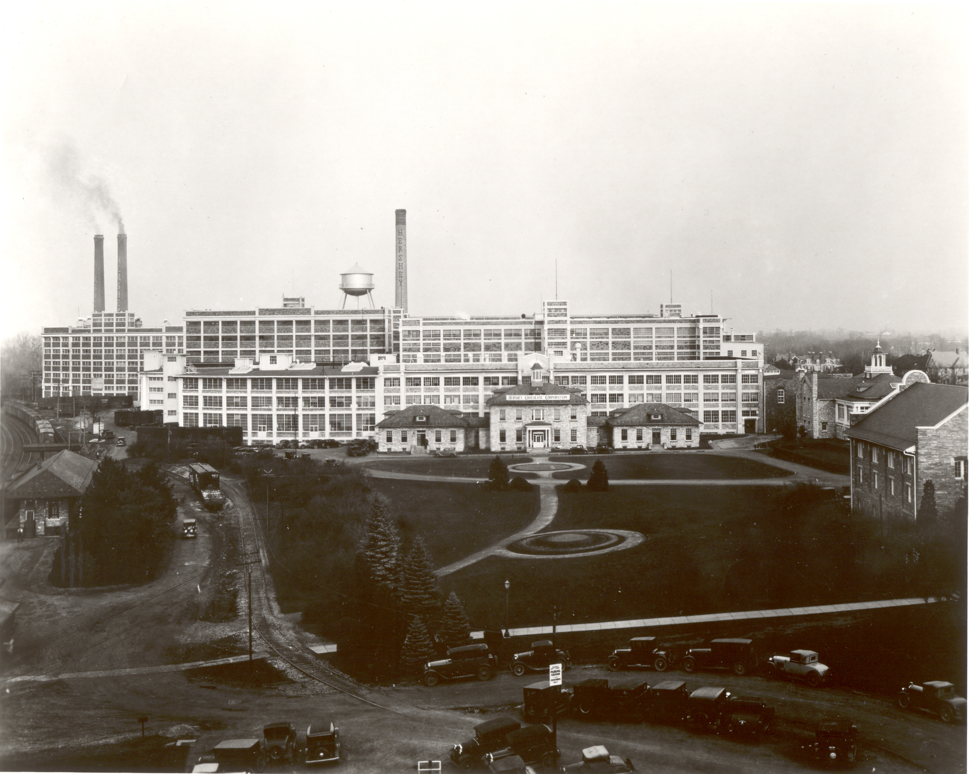 Worksheet Hershey Chocolate Company History explorepahistory com image exterior view of the hershey chocolate factory and office from railroad bridge