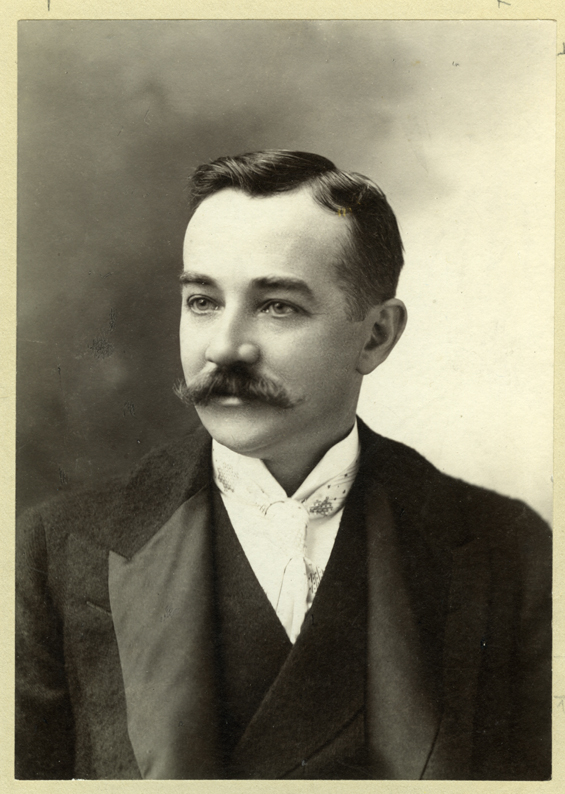 Milton S. Hershey, wearing suit; head and shoulders portrait.