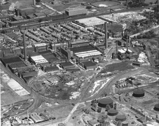 Aerial view of the plant.