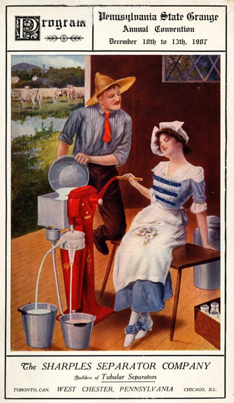 Program cover, The Sharples Separator Company, 1907 Pennsylvania State Grange Annual Convention