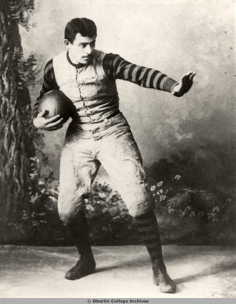 John W. Heisman in his University of Pennsylvania football uniform, circa 1891.