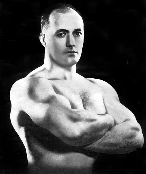 Head and shoulders picture of a bodybuilder.