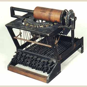 Early Sholes and Glidden typewriter