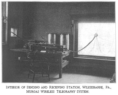 Interior of Sending and Receiving Station, Wilkes Barre, Pennsylvania., c. 1905.