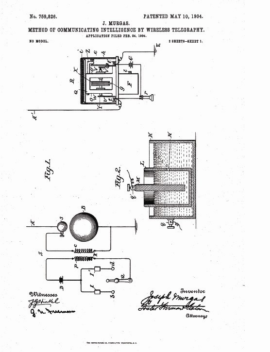 Drawing of the patent page one.