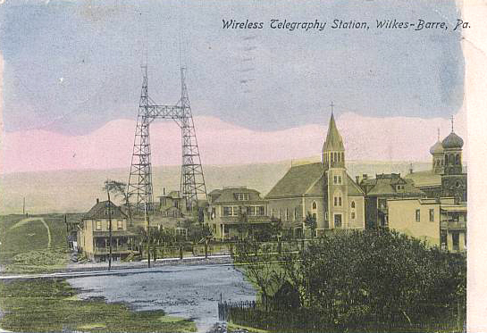 Postcard of the Slovak neighborhood seen from the window in his rectory