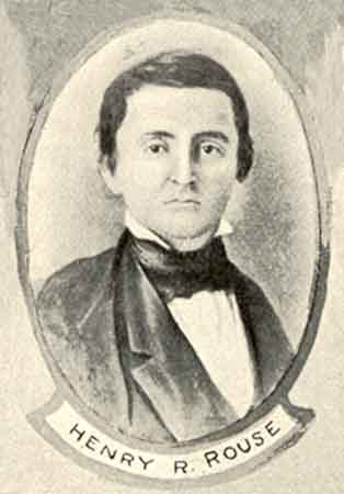 An etching portrait of Henry R. Rouse.