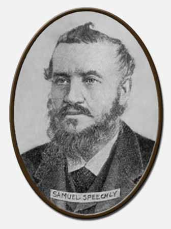 A head and shoulders portrait of Samuel Speechley.