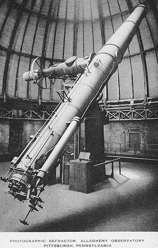 The Allegheny Observatory's 30 inch Thaw Telescope, Pittsburgh, PA, circa 1913.