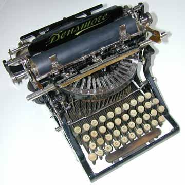 Densmore #1 typewriter, circa 1891.