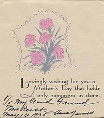 Explorepahistory image second page of mothers day greetings card inscription reads to my good friend mrs m4hsunfo