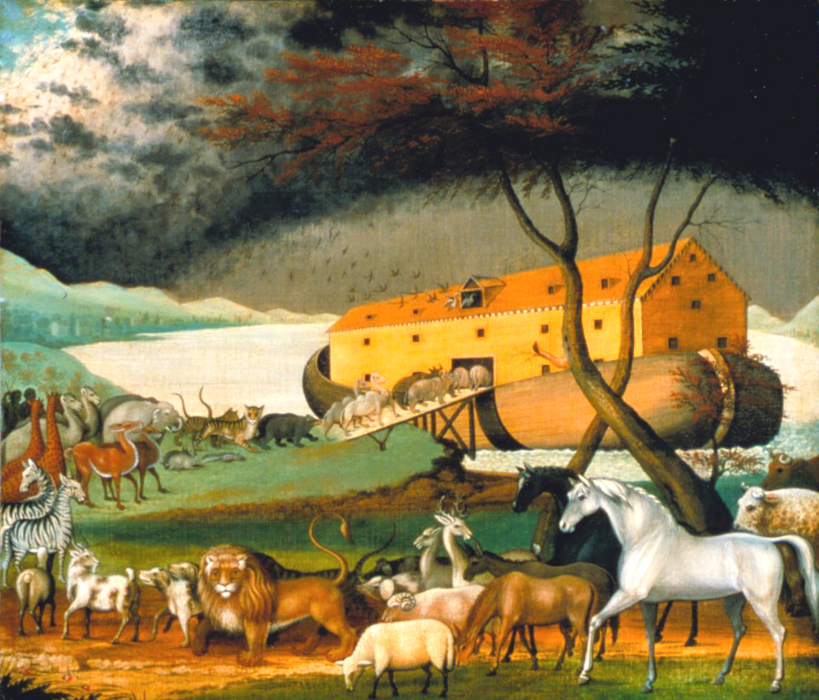 edward hicks noahs ark Noah's ark (1846), a painting by the american folk painter edward hicks photo  credit: wikipedia the noah's ark structure spans 510 feet in.
