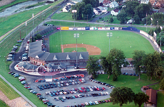 An aerial photograph of Bowman Field in Williamsport, PA.
