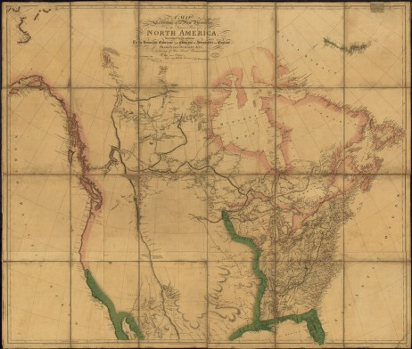 Aaron Arrowsmith (1750 - 1823) A Map Exhibiting All the New Discoveries in the Interior Parts of North America . . . London: 1802 Hand-colored, engraved map