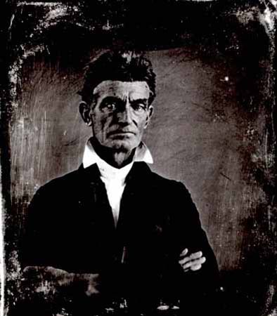 This 1856 photograph of John Brown was taken three years before his raid on Harpers Ferry.