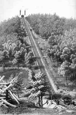 The mining and transportation of anthracite resulted in many technological advances such as the Switchback Railroad at Mauch Chunk in Carbon County.