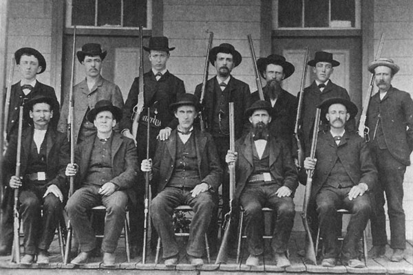 1880s group of deer hunters