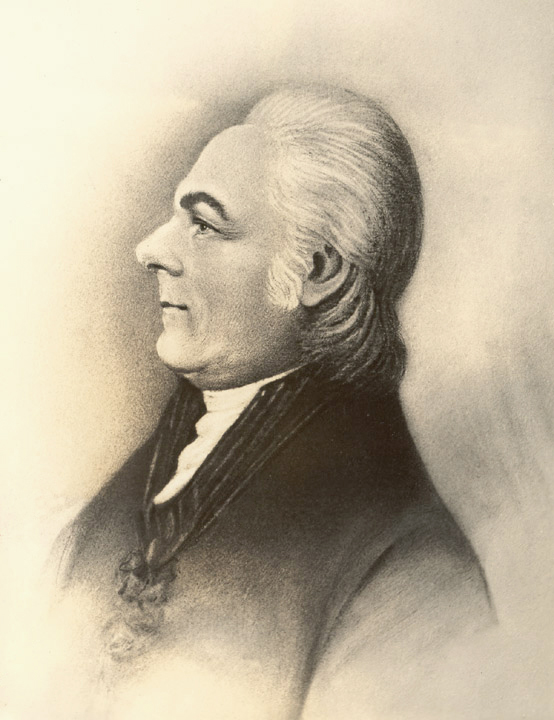A head and shoulders portrait of Andrew Ellicott.