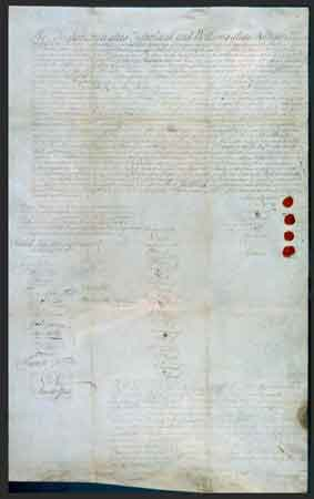 "The agreement to sell the land whose boundaries were defined by the ""walk"" was signed on August 25, 1737, about three weeks before the walk actually took place. The questionable ""walk"" committed the Lenape to surrendering more land than they had anticipated."