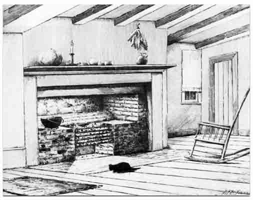Jesse Fell experimented to find a way to use anthracite for home heating. He created a grate, shown here, and set it up in his tavern. Its success proved that the hard coal could be used for home heating and cooking.