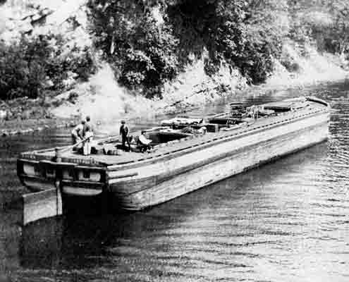A typical canal boat, built to transport anthracite on the Schuylkill Canal.