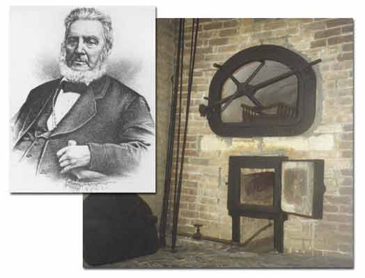 In addition to building the first crematory in the United States, Dr. Francis LeMoyne also designed the oven, shown here.