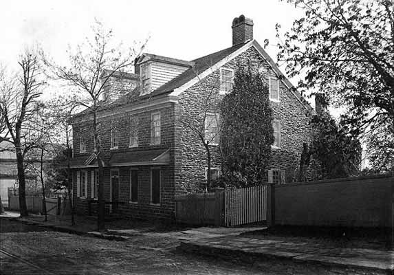 The Johnson House, a station on the Underground Railroad, pictured here in 1867.