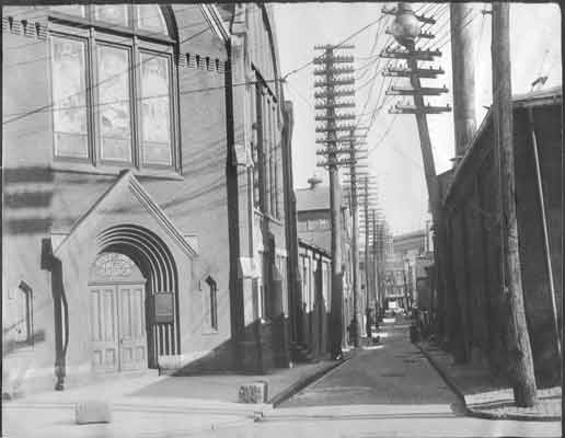 This c. 1911 photo of the Wesley Union AME Zion Church on the corner of Tanner's Alley and South Street was taken shortly before the area was razed to make room for the expanding Capitol complex.