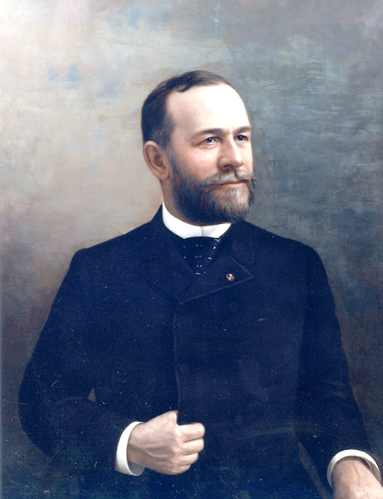 Oil on canvas of James A. Beaver.