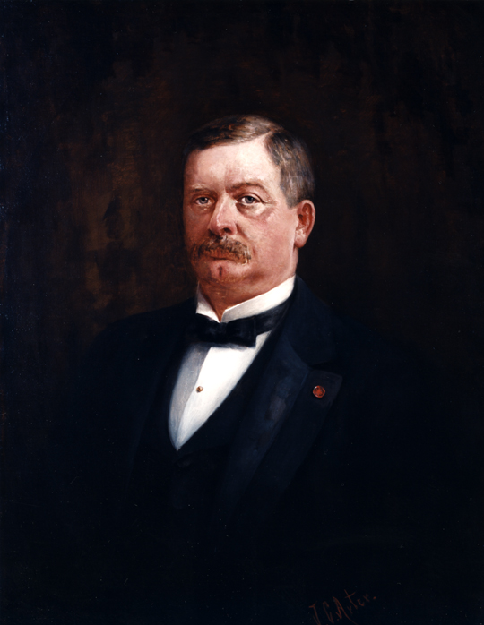 Oil on canvas of William A. Stone.