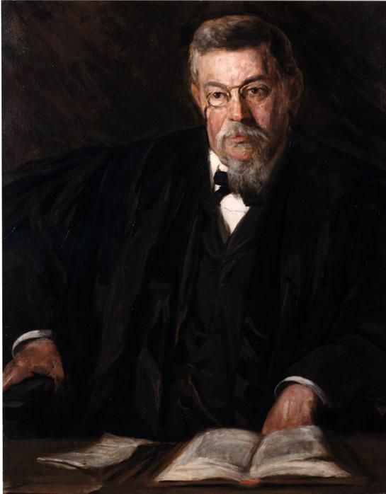 Oil on canvas of Samuel W. Pennypacker.