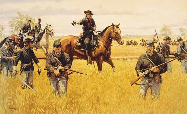 <i>Custer at Hanover,</i> painting by Dale Gallon.