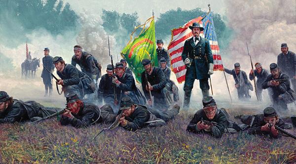 General Winfield S. Hancock. The Irish Brigade at Antietam September 17, 1862.