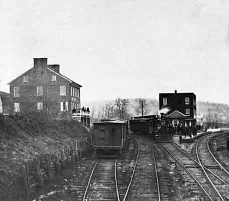 Hanover Junction as it appeared in 1863.