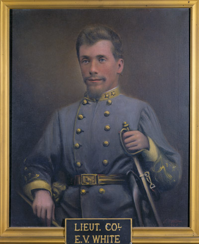 Oil on canvas painting of Colonel Elijah V. White