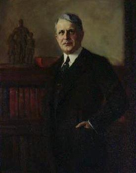 Oil on canvas of the <i>James J. Davis,</i> official portrait of the Secretary of Labor, March 5, 1921 to November 30, 1930.