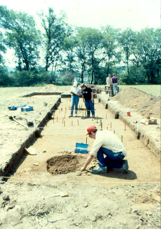 Excavation at Fishbasket site.