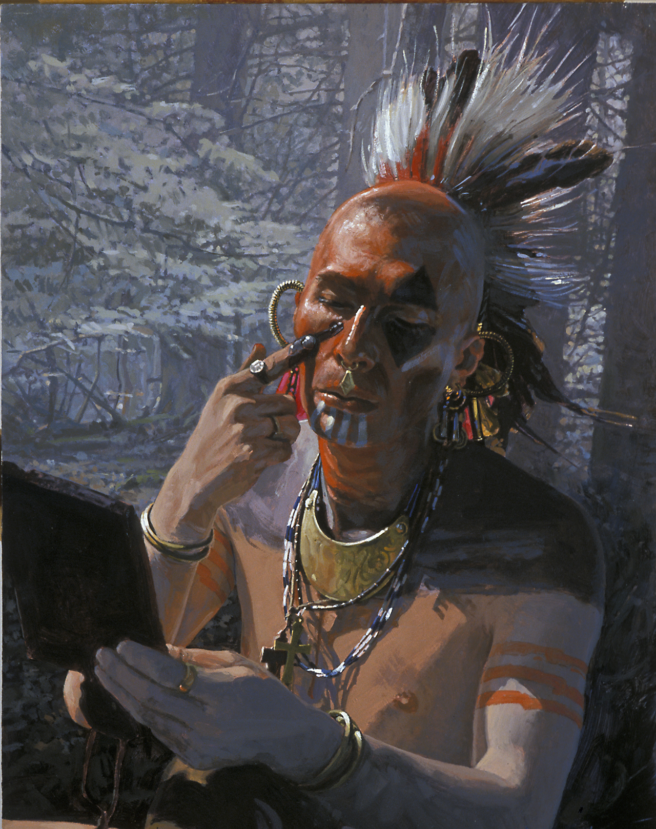 Native American War Paint Meanings http://explorepahistory.com/displayimage.php?imgId=1-2-8B0