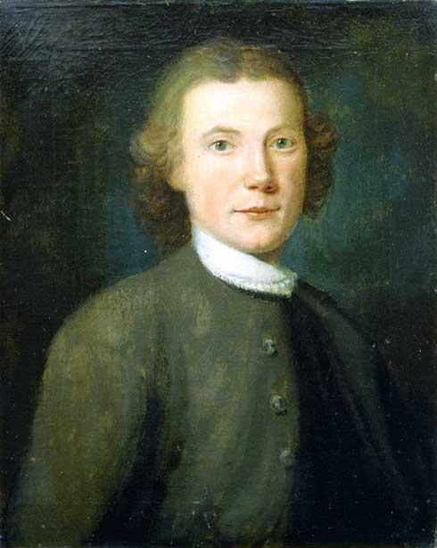 Oil on canvas of <i>John Ettwein,</i> 1754, by John Valentine Haidt