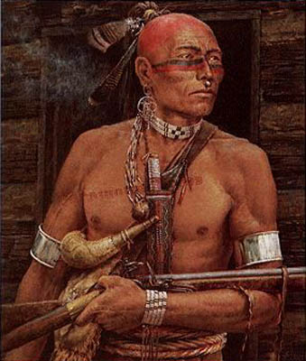 In this recent painting, artist Robert Griffing depicts Chief Logan as he may have looked like at the time of his famous speech.