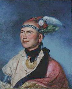 The charismatic chief of the Mohawk, Joseph (Thayendanegea).