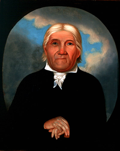 Senckendorff painted Heckewelder in the simple dress of the Moravian missionaries, who were known as Blackcoats among the western Delaware.