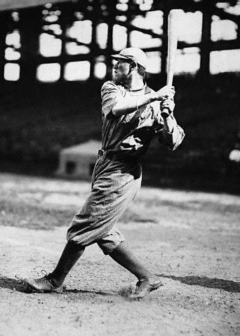 Jim Thorpe in Baseball Uniform.