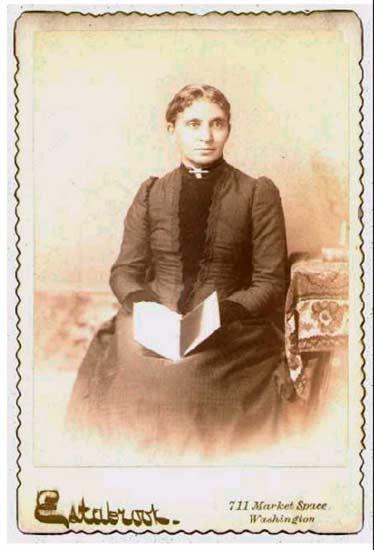 Image of Charlotte Forten Grimke seated.