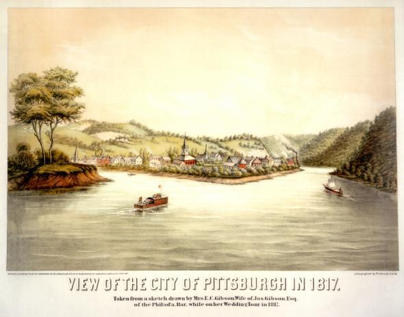 Pittsburgh watercolor, 1817.