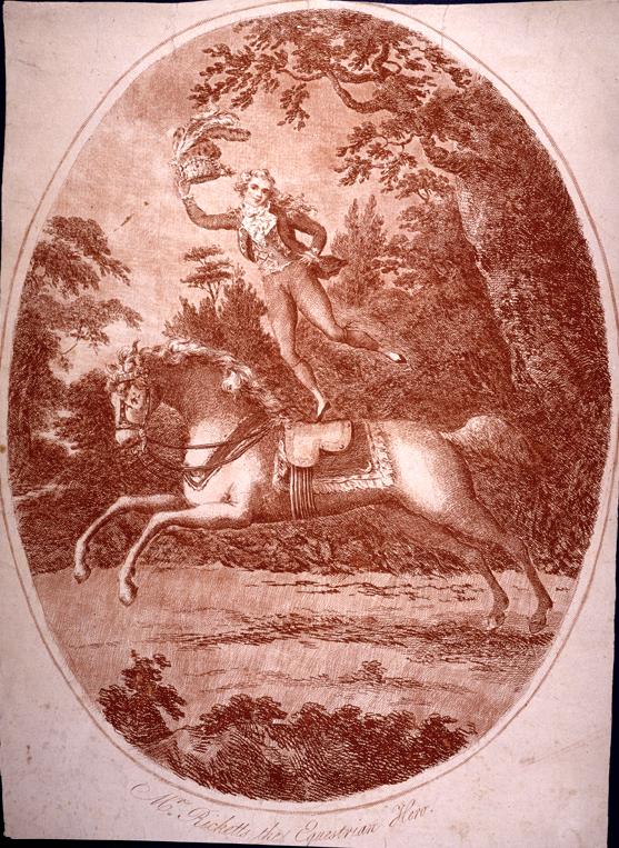 Image of Ricketts on horseback.