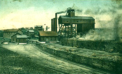 Several of the mine buildings, power house, tipple, coke yard and the Mt. Pleasant Supply Company store are shown in this early post card of Morewood.