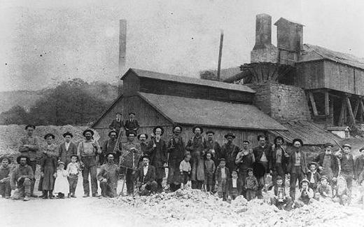 Greenwood Furnace workers, c 1890.