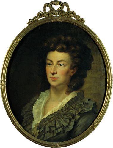 Oil on canvas of Princess Adelheid Amalie Gallitzin.